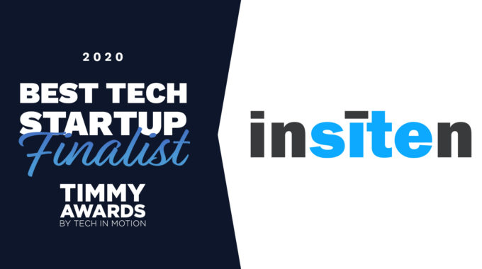 "Insiten Named Finalist For Tech In Motion Best Tech Startup  ""Timmy"" Award"